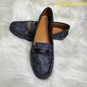 Coach Olive Leather Loafers